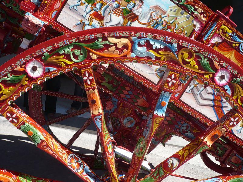 Sicilian carretto - wheel