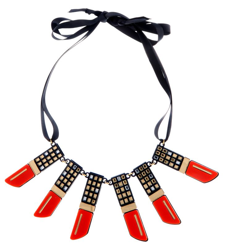 Lipstick necklace by Lou Taylor