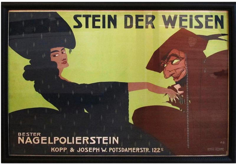 Kopp & Joseph nail stone ad by Alfred Boeld, ca. 1911