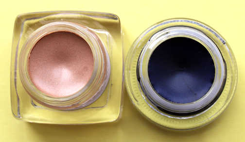 Bobbi Brown Nude Beach shadow and Sapphire Shimmer gel liner