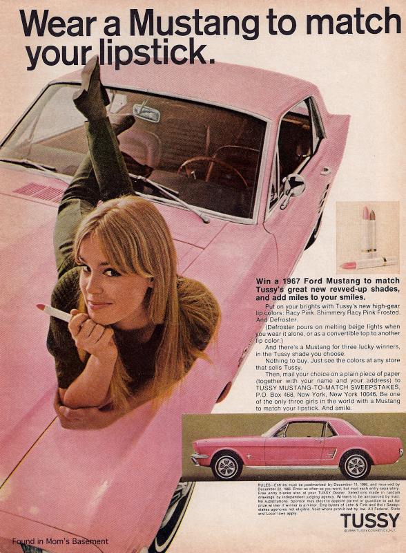 Tussy Mustang ad, 1967