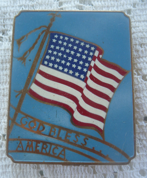 God Bless America compact, unknown maker