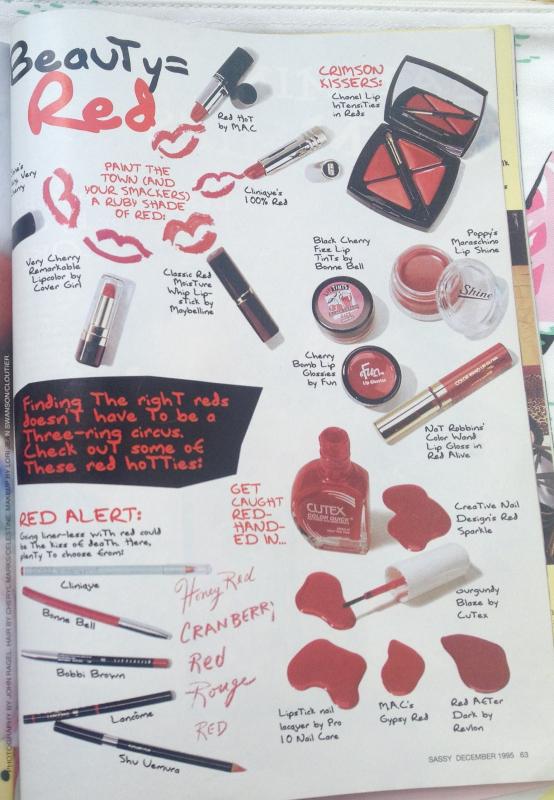 Sassy magazine, December 1995