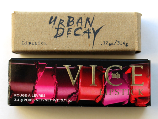 Urban Decay lipsticks, '90s vs. 2016