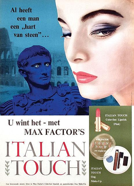 Max Factor Italian Touch ad