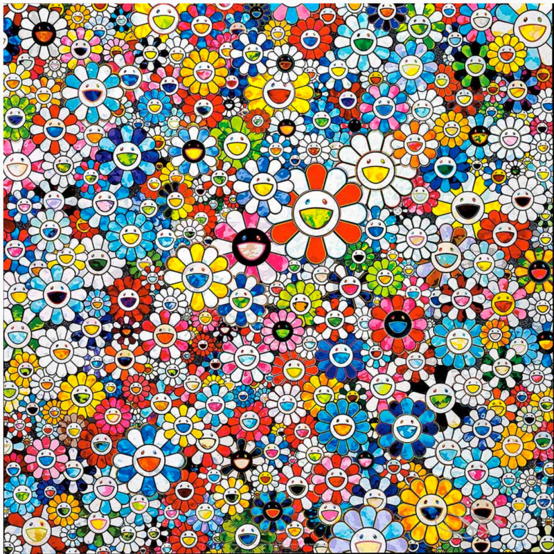 Takashi Murakami, Flowers with Smiley Faces, 2013