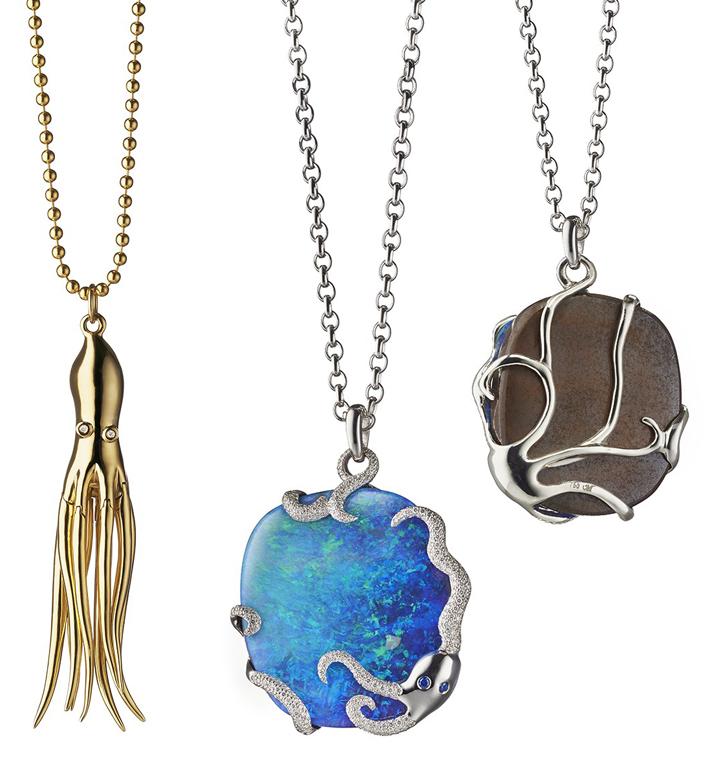 Monica Kosann octopus pendants
