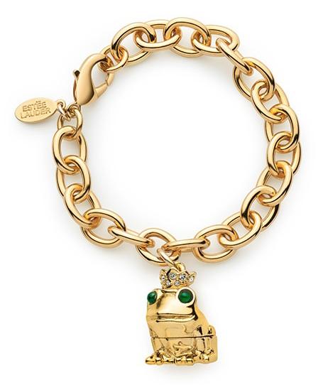 Monica Kosann for Estée Lauder - frog charm bracelet