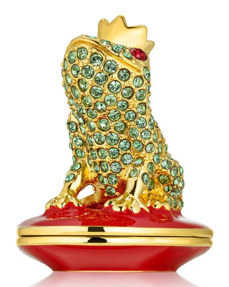 Monica Kosann for Estée Lauder - frog solid perfume compact