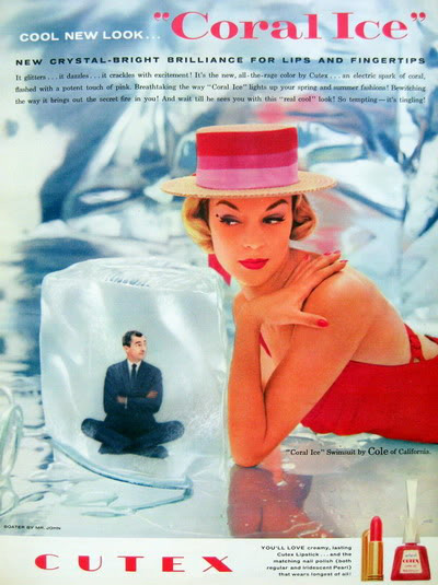 Cutex Coral Ice ad, 1957