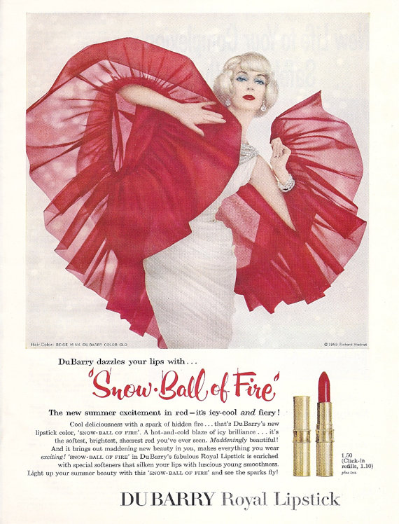 Dubarry Snowball of Fire ad, 1959