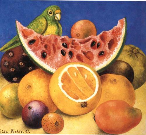 Frida Kahlo, Still Life with Parrot, 1951