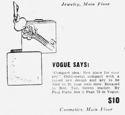 Paul Flato key compact ad, December 1950