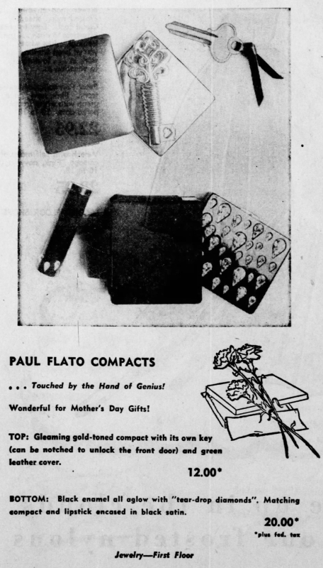 Paul Flato compact ad, May 1951