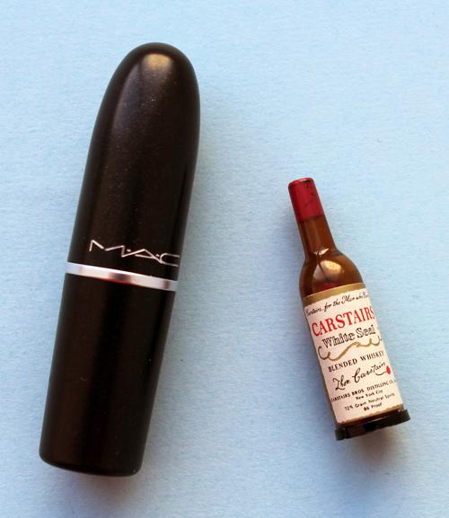 Carstairs miniature whiskey bottle lipstick