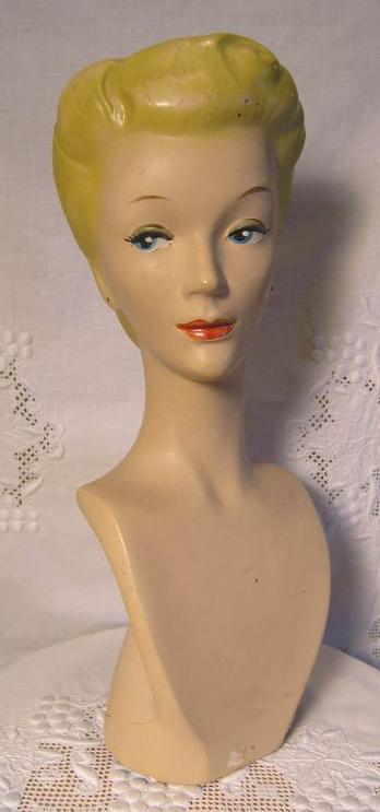 Vintage jewelry mannequin
