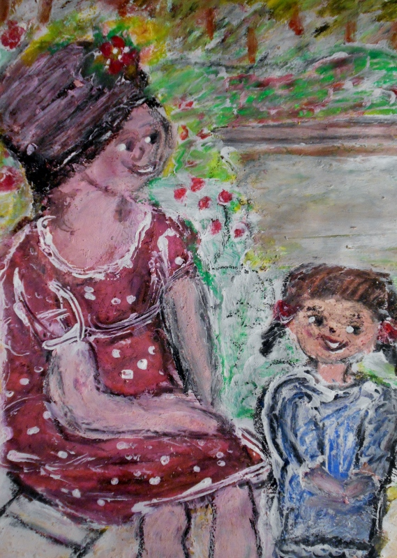 Gloria Garrett, Mother and Child in Park, 2013