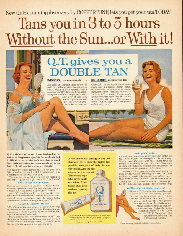 Ad for Coppertone QT, 1961
