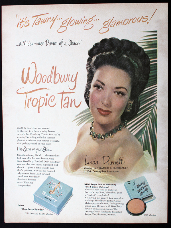 Ad for Woodbury Tropic Tan, 1949