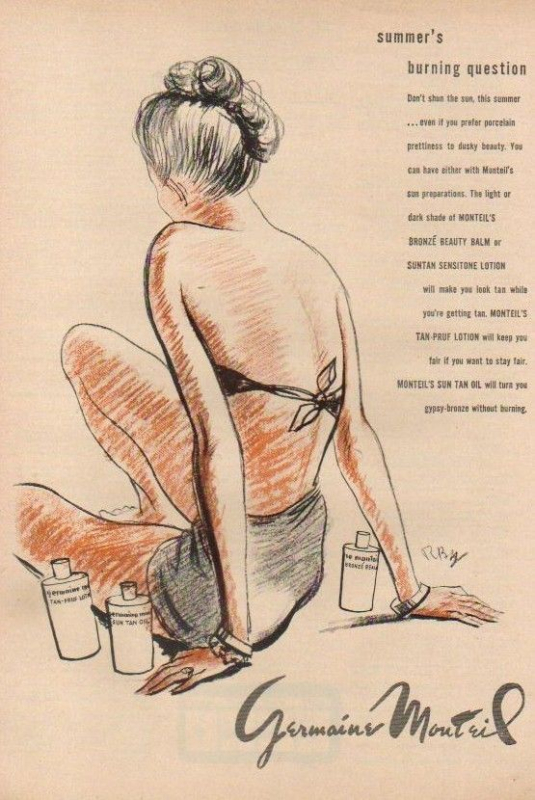 Ad for Germaine Monteil, 1947