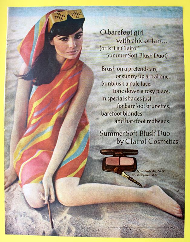 Clairol Soft-Blush Duo ad, 1967