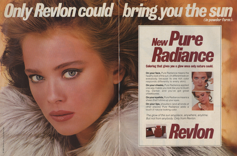 Ad for Revlon Pure Radiance, 1984