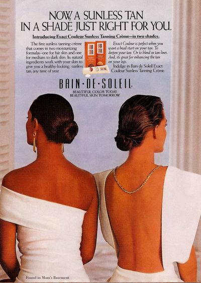 Bain de Soleil ad, 1990