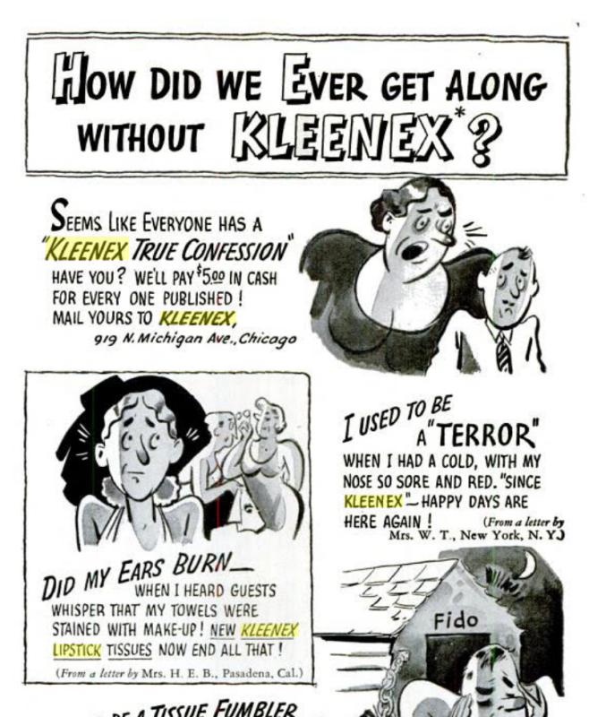 Kleenex True Confessions, February 1938