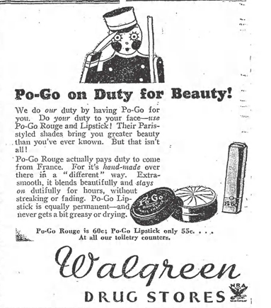 Po-Go Rouge ad, May 1934