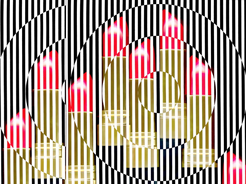 Michelle Murphy, OP Lipstick (after Bridget Riley)