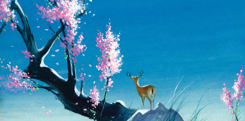 Tyrus Wong - concept art for Bambi
