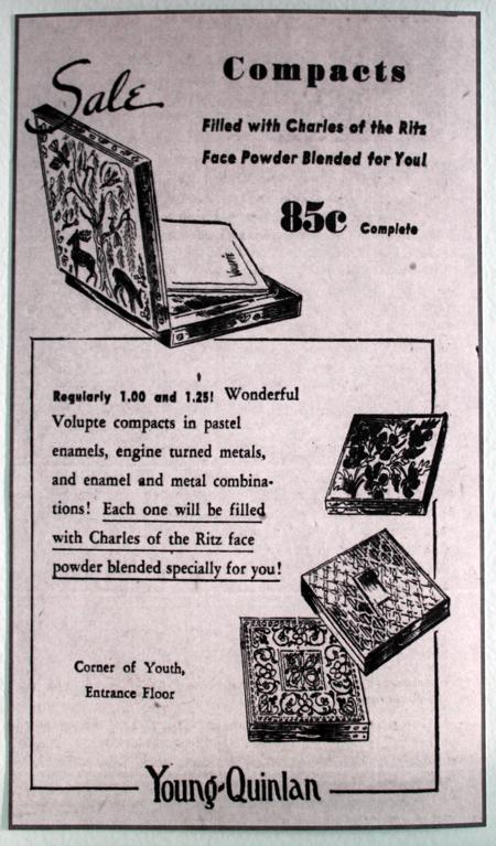 Volupté compact ad, June 1942