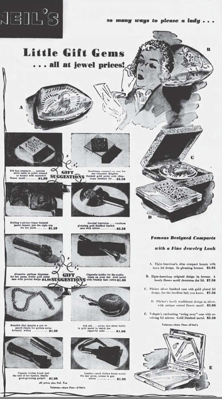 Elgin compact ad, November 1950