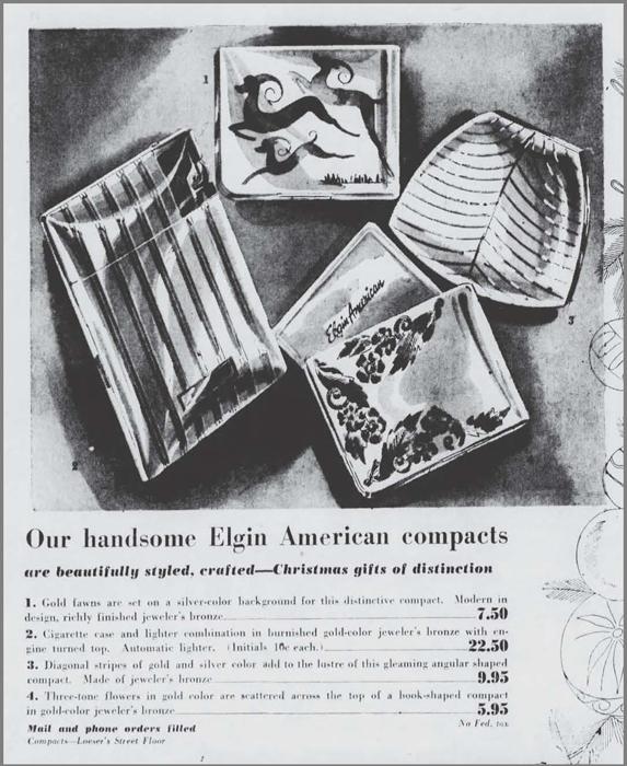 Elgin compact ad, December 1948