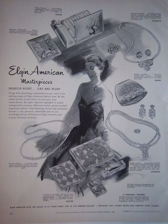 1951 Elgin compact ad