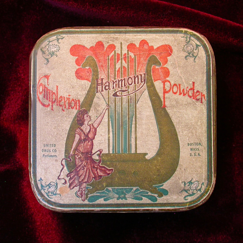 Harmony of Boston face powder, ca. 1906
