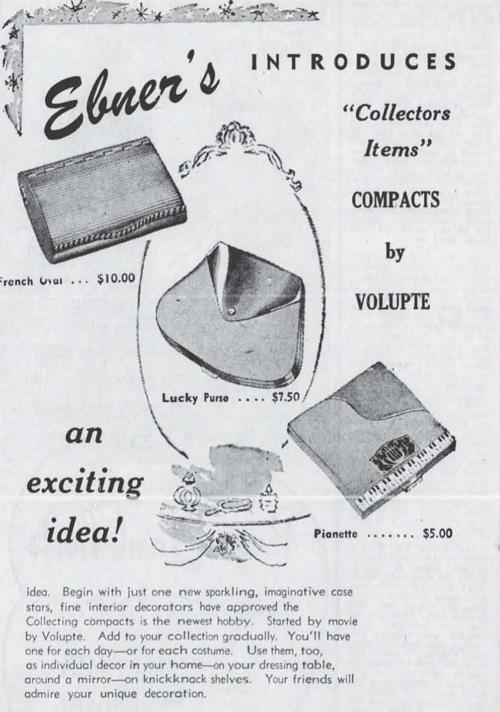Volupté compact ad, November 1948