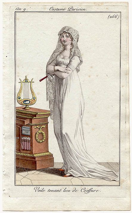 Fashion plate from Costume Parisien, 1800
