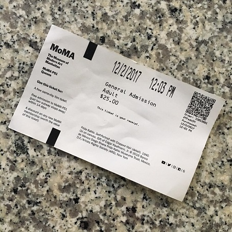 MoMA ticket