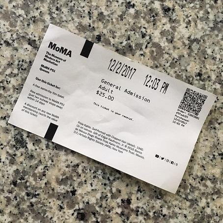 MoMA ticket