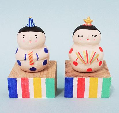 Polkaros Hinamatsuri dolls