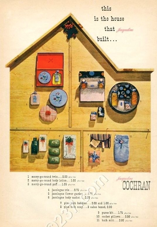 Jacqueline Cochran cosmetics ad designed by Paul Rand, 1944