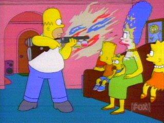 Simpsons makeup gun