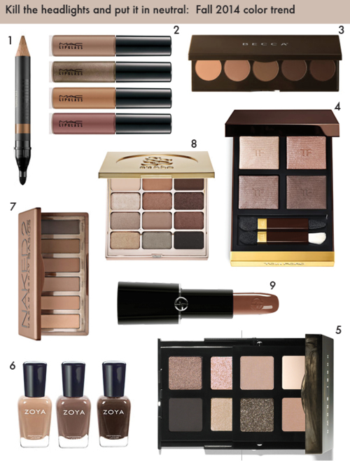 Fall 2014 color trend: neutral