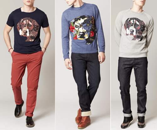 Paul & Joe fall 2014 dog sweatshirt mens