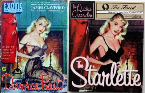 Divorce Bait pulp novel = Too-Faced The Starlette Quickie Chronicle palette