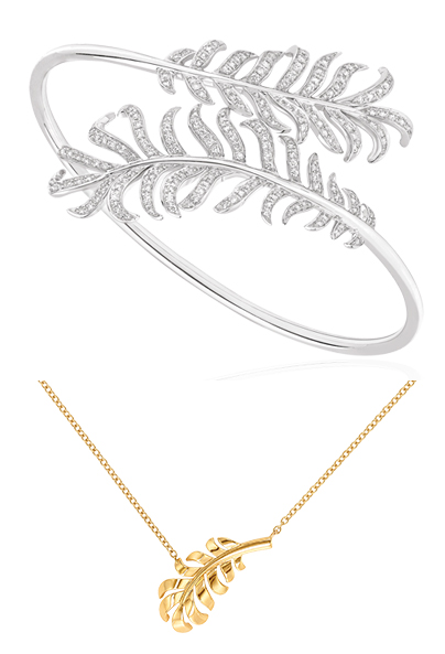 Chanel Plumes bracelet and necklace