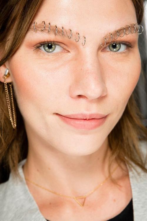 Rodarte spring 2015 - faux brow piercing