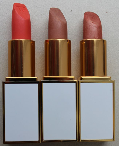 Tom Ford Lip Sheers in Sweet Spot, In the Buff and Pink Dune