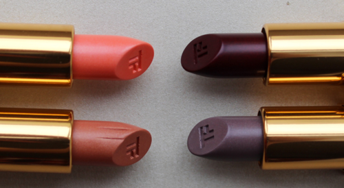Tom-Ford Luca and William (left) and Wes and Stavros lipsticks (right)